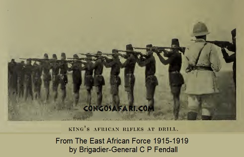 King's African Rifles (KAR) at drill.